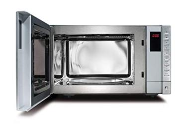 CASO | SMG20 2-in-1 Mikrowelle mit Grill | 800 W, 1000 W Grill, 20 L, 2 Kombiprogramme + 8 Koch-Programme, Design Edelstahl gebürstet, verspiegelt - 2