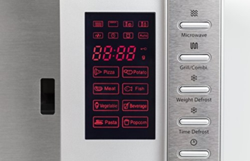 CASO | SMG20 2-in-1 Mikrowelle mit Grill | 800 W, 1000 W Grill, 20 L, 2 Kombiprogramme + 8 Koch-Programme, Design Edelstahl gebürstet, verspiegelt - 3