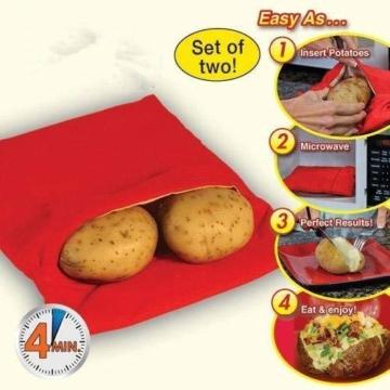 Kartoffel Mikrowelle beutel Mikrowellenherd Kochtasche Kartoffel Tortillas Maiskolben Express Backen Werkzeug (1 Stü.) - 2