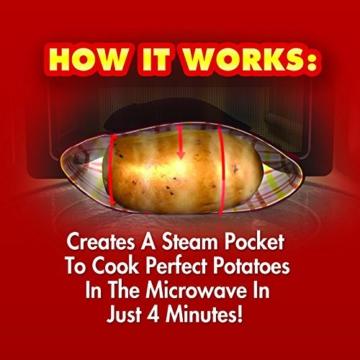 Kartoffel Mikrowelle beutel Mikrowellenherd Kochtasche Kartoffel Tortillas Maiskolben Express Backen Werkzeug (1 Stü.) - 3