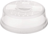 Rotho Basic Mikrowellenabdeckhaube, Kunststoff (PP) BPA-frei, transparent, 26,5 x 26,5 x 6,5 cm - 1