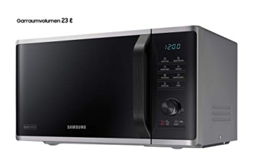 Samsung MW3500K MS2AK3515AS/EG Mikrowelle / 800 W / 23 L Garraum / 48,9 cm Breite / Kratzfester Keramik-Emaille-Inneraum / QuickDefrost Auftauprogramme / silber / E-Commerce Verpackung - 2