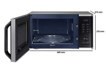 Samsung MW3500K MS2AK3515AS/EG Mikrowelle / 800 W / 23 L Garraum / 48,9 cm Breite / Kratzfester Keramik-Emaille-Inneraum / QuickDefrost Auftauprogramme / silber / E-Commerce Verpackung - 4