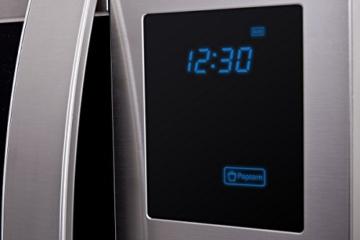 Sharp R982STWE 3-in-1 Mikrowelle mit Heißluft und Grill / 42 L / 1000 W / 1300 W Infrarotgrill / 2700 W Heißluft / 10 Automatikprogramme / LED-Display mit Uhr / Glasdrehteller (34,5 cm) / Edelstahl - 4