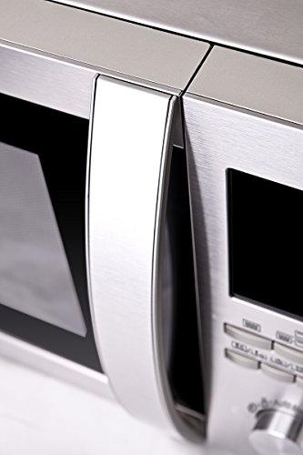 Sharp R982STWE 3-in-1 Mikrowelle mit Heißluft und Grill / 42 L / 1000 W / 1300 W Infrarotgrill / 2700 W Heißluft / 10 Automatikprogramme / LED-Display mit Uhr / Glasdrehteller (34,5 cm) / Edelstahl - 5