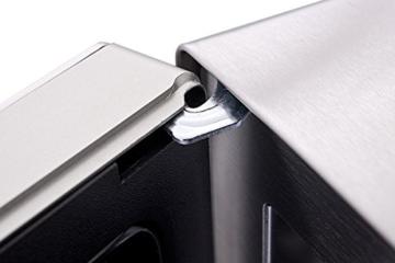 Sharp R982STWE 3-in-1 Mikrowelle mit Heißluft und Grill / 42 L / 1000 W / 1300 W Infrarotgrill / 2700 W Heißluft / 10 Automatikprogramme / LED-Display mit Uhr / Glasdrehteller (34,5 cm) / Edelstahl - 6