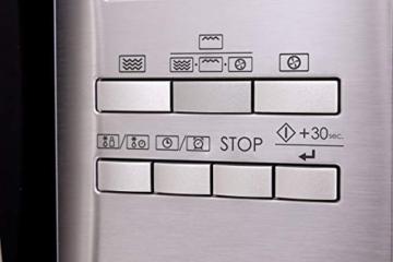 Sharp R982STWE 3-in-1 Mikrowelle mit Heißluft und Grill / 42 L / 1000 W / 1300 W Infrarotgrill / 2700 W Heißluft / 10 Automatikprogramme / LED-Display mit Uhr / Glasdrehteller (34,5 cm) / Edelstahl - 9