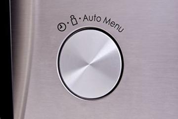 Sharp R982STWE 3-in-1 Mikrowelle mit Heißluft und Grill / 42 L / 1000 W / 1300 W Infrarotgrill / 2700 W Heißluft / 10 Automatikprogramme / LED-Display mit Uhr / Glasdrehteller (34,5 cm) / Edelstahl - 10