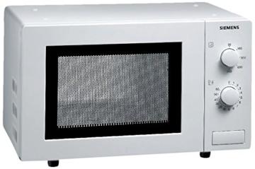 Siemens HF12M240 iQ100 Mikrowelle / 17 L / 800 W / einfache Bedienung durch mechanische Regelung / 5 Leistungsstufen / Innenbeleuchtung / Weiß - 1