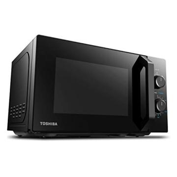 Toshiba MW2-MM20PF(BK) Mikrowelle/Solo-Mikrowelle / 20L / 800W / 5 Leistungsstufen mit praktischer Auftaufunktion/LED-Beleuchtung im Innenraum/Schwarz - 4