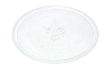 Universal Mikrowelle-Drehteller-Glasplatte mit 3Fixierern, 245mm - 1